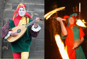Musical fire juggling jesters