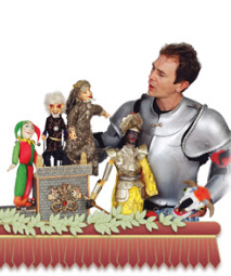 Medieval rod puppet shows