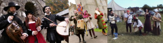 Medieval Musicians, perfect for creating the right atmosphere at a banquet